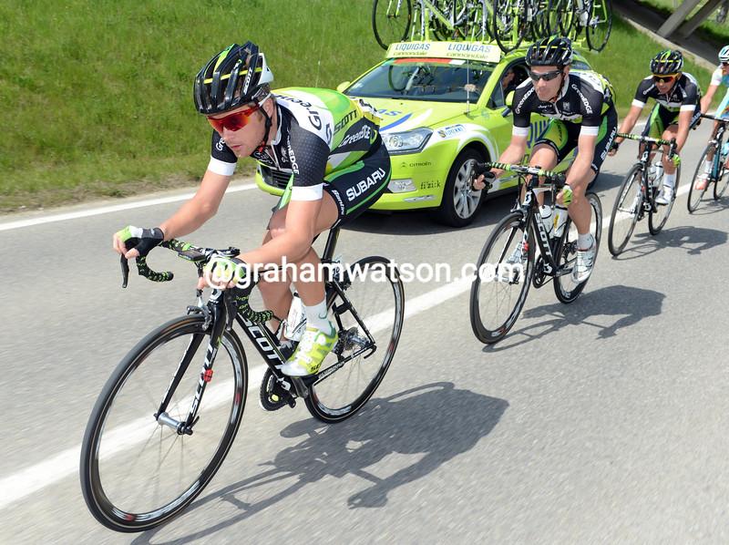 Christian Meier on stage three of the 2012 Tour de Romandie