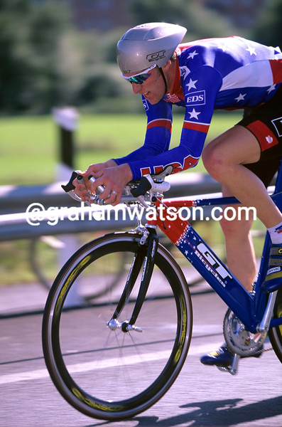Christian VandeVelde in the 1997 World Time Trial Championship