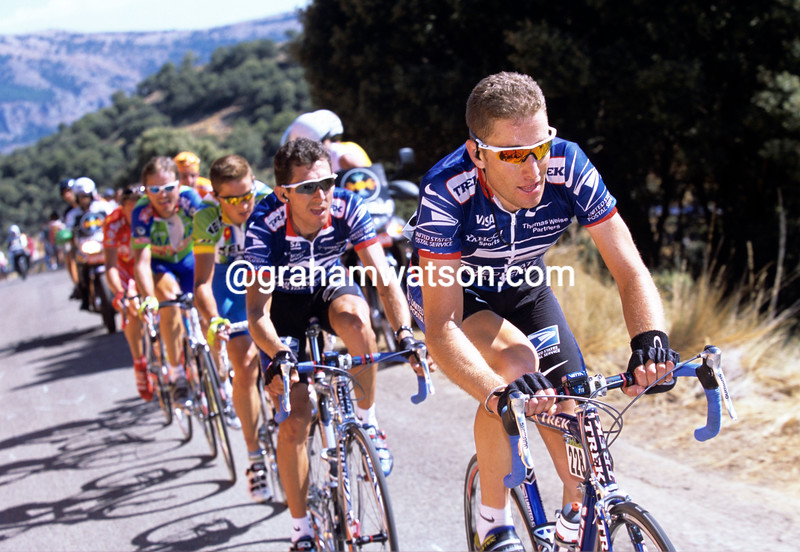 Christian VandeVelde in the 2002 Vuelta a España