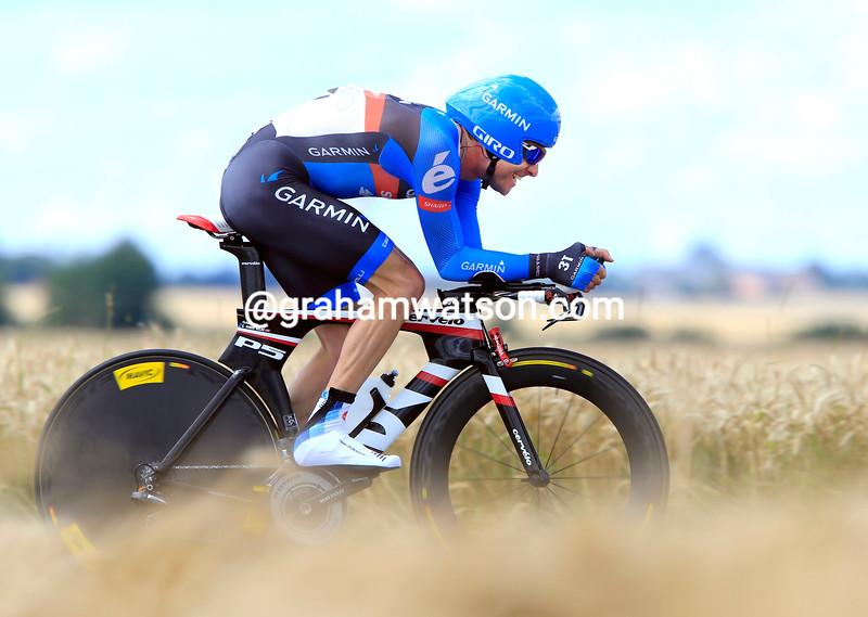 Christian Vande Velde on stage nineteen of the 2012 Tour de France