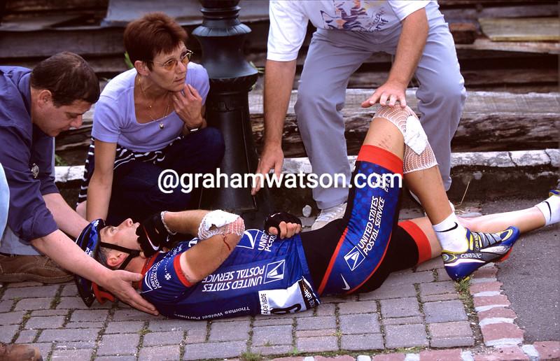 Christian Vande Velde in the 2001 Tour de France