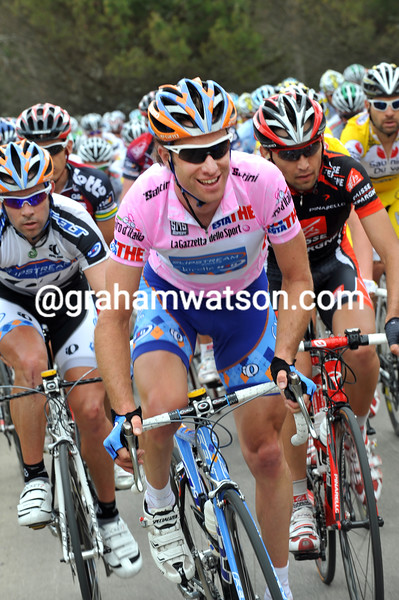 CHRISTIAN VANDEVELDE ON STAGE TWO OF THE 2008 GIRO D'ITALIA
