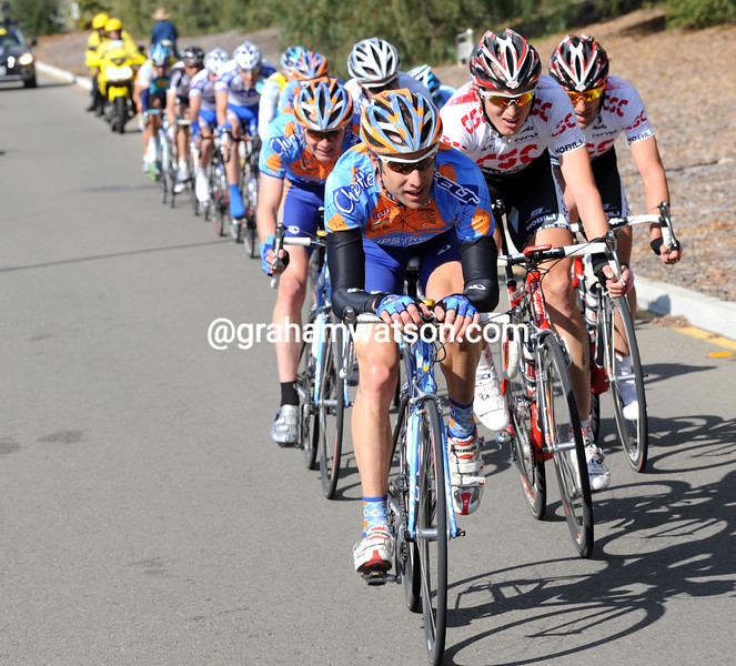 CHRISTIAN VANDEVELDE CHASES ON STAGE THREE OF THE 2008 TOUR OF CALIFORNIA
