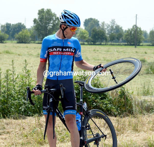 Christian Vande Velde on stage seventeen at the 2013 Giro d'Italia