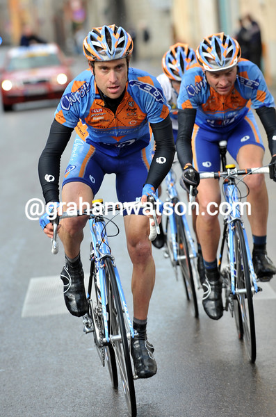 CHRISTIAN VANDE VELDE AND DANNY PATE ON STAGE THREE OF THE 2008 PARIS-NICE