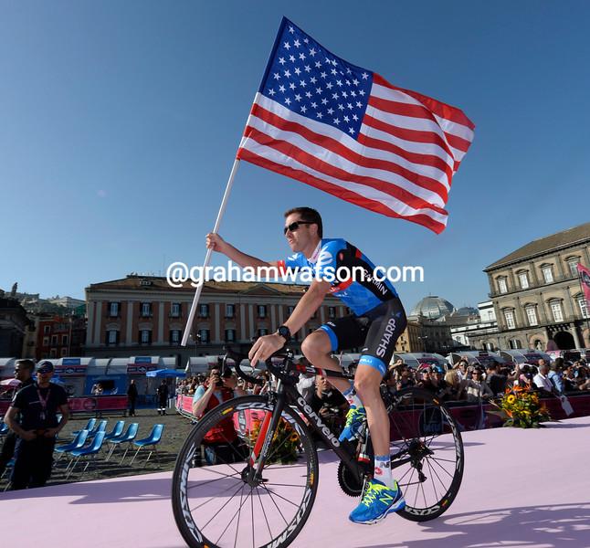 Christian Vande Velde at the 2013 Giro d'Italia team presentation
