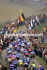Cyclists in the 2000 Paris-Roubaix