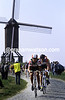 Cyclists climb in the 1990 Tour of Flanders