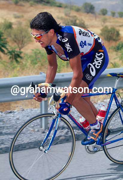 Claudio Chiappucci in the 1997 Tour of Spain