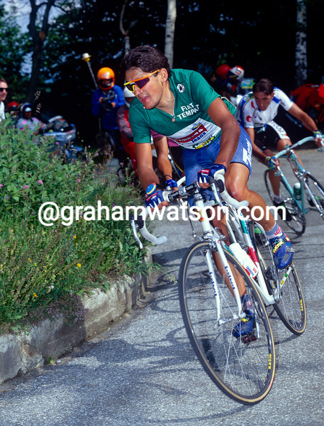 Claudio Chiappucci in the 1992 Giro d'Italia