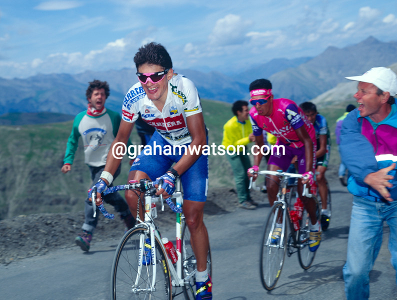 Claudio Chiappucci in the 1992 Tour of Spain