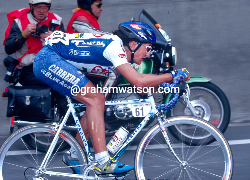 Claudio Chiappucci in the 1996 Milan-San Remo