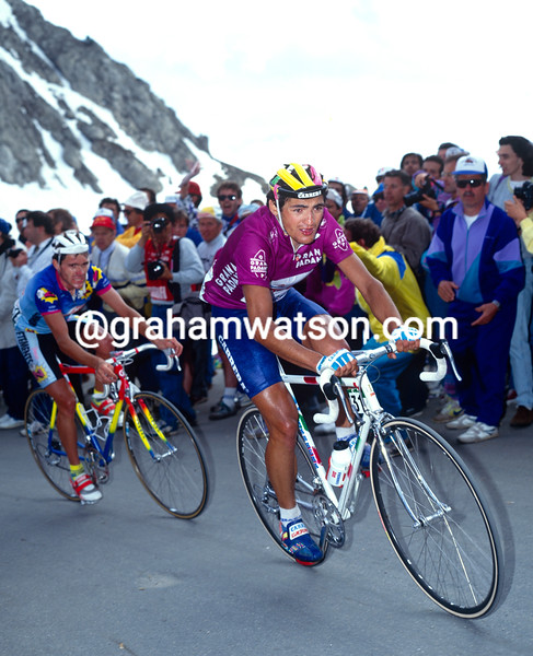 Claudio Chiappucci in the 1991 Giro d'Italia