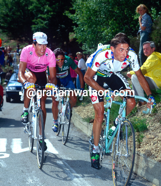 Franco Chioccioli in the 1993 Giro d'Italia