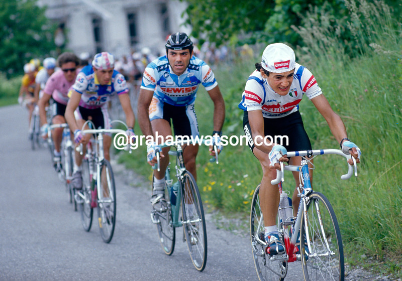 Claudio Chiappucci in the 1987 Giro d'Italia