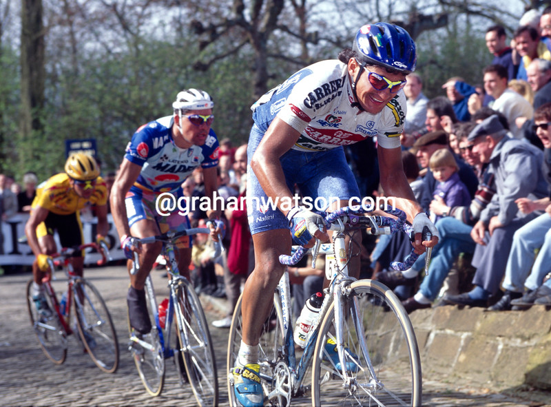 Claudio Chiappucci in the 1992 Tour of Flanders