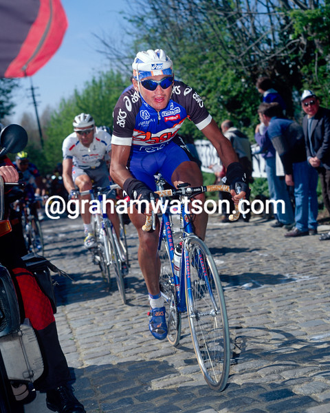 Claudio Chiappucci in the 1997 Tour of Flanders