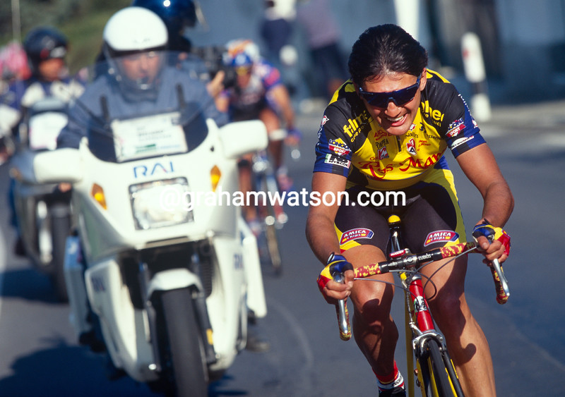 Claudio Chiappucci in the 1998 Milan-San Remo