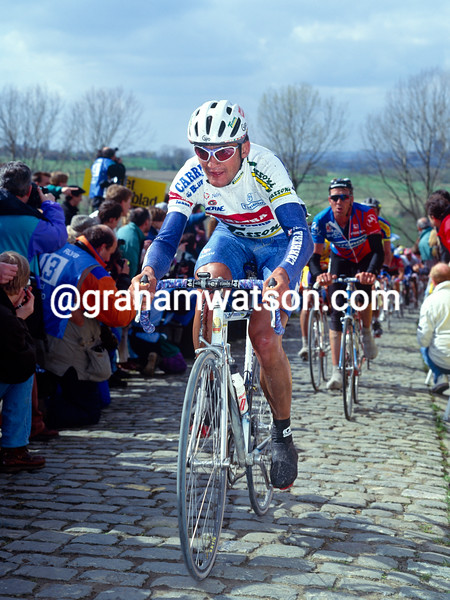 Claudio Chiappucci in the 1991 Tour of Flanders