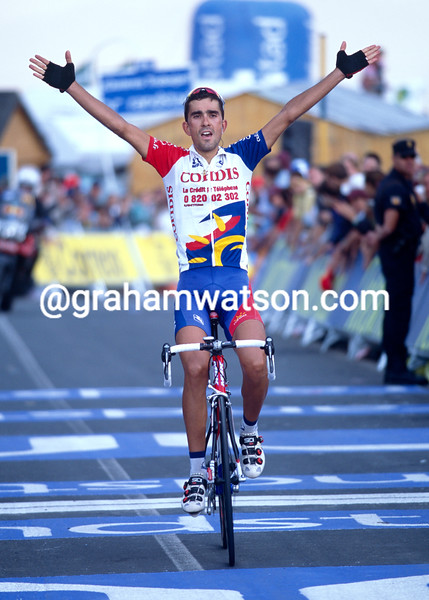 Guido Trentin wins a stage of the 2002 Tour of Spain