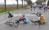 KOEN DE KORT AFTER A CRASH IN THE 2008 TOUR OF FLANDERS