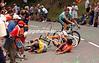 LANCE ARMSTRONG CRASHES AT THE 2003 TOUR DE FRANCE