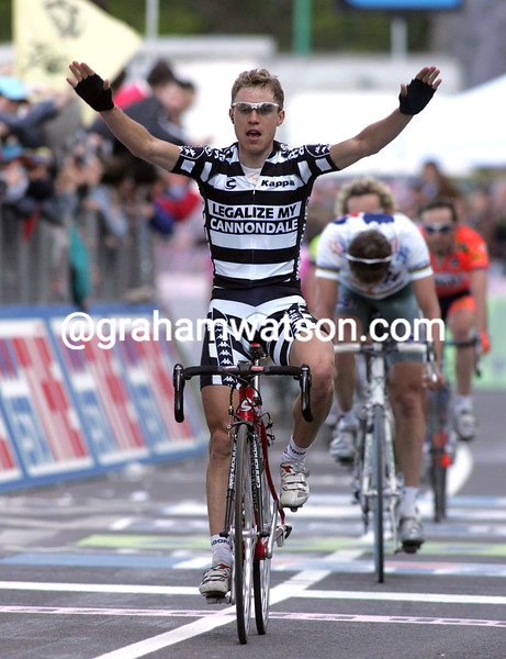 DAMIANO CUNEGO IN THE 2004 GIRO D'ITALIA