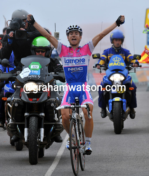DAMIANO CUNEGO WINS STAGE EIGHT OF THE 2009 TOUR OF SPAIN