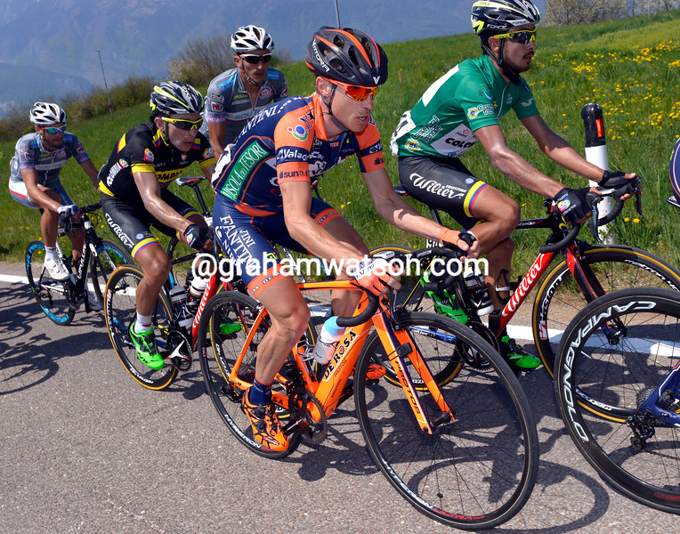Damiano Cunego on stage four of the 2015 Giro di Trentino