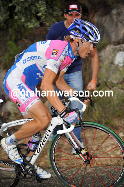 DAMIANO CUNEGO ON STAGE FOURTEEN OF THE 2009 TOUR OF SPAIN