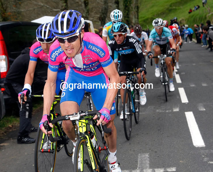 Damiano Cunego on Stage 3 of the 2012 Tour of the Basque Country