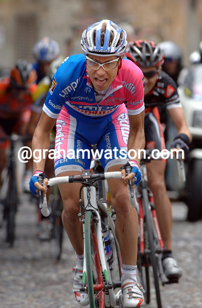 DAMIANO CUNEGO ON STAGE FOURTEEN OF THE 2007 GIRO D'ITALIA