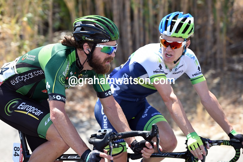 Dan Craven and Simon Clarke on stage two of the 2014 Tour of Spain