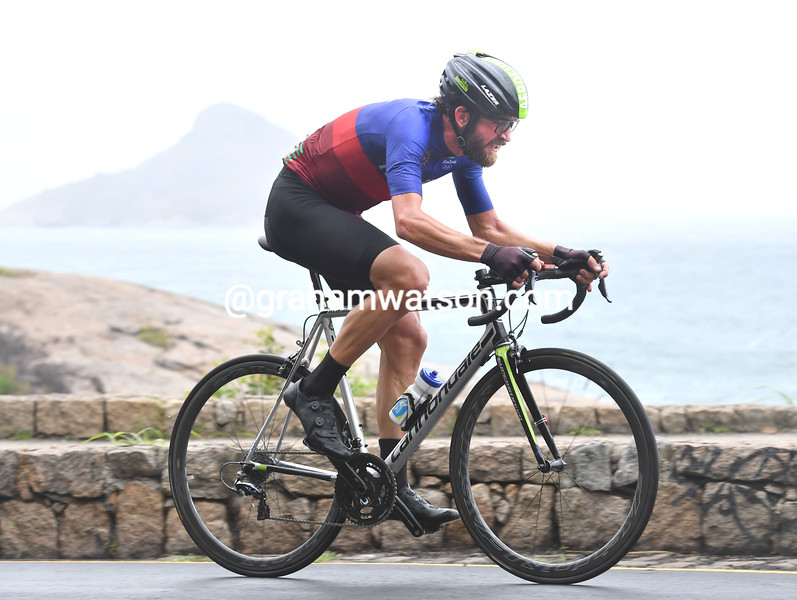 Dan Craven in the mens time trial at the 2016 Olympic Games