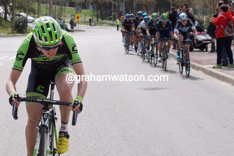 Dan Martin attacks in the 2015 Tour of Catalonia