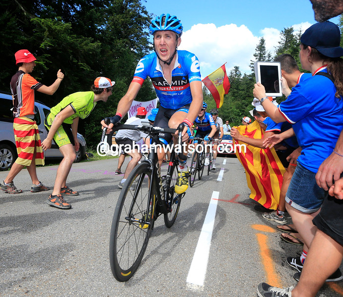 Dan Martin on stage eight of the 2013 Tour de France