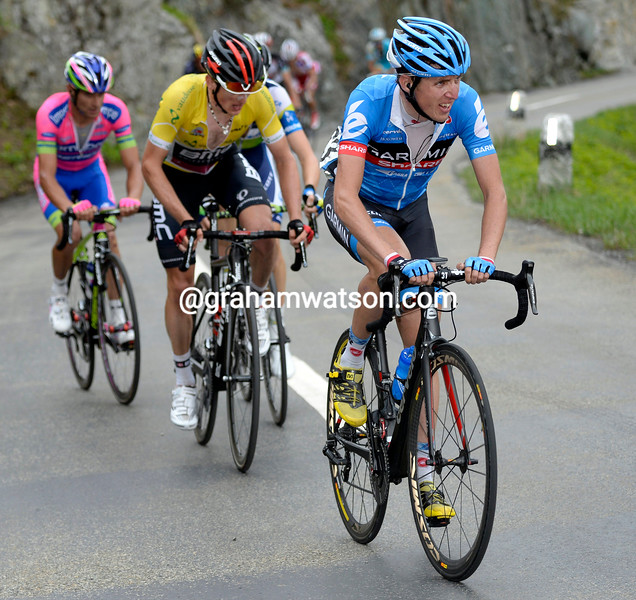Dan Martin on stage seven of the 2013 Tour de Suisse