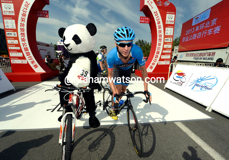 Dan Martin before stage two of the 2013 Tour of Beijing