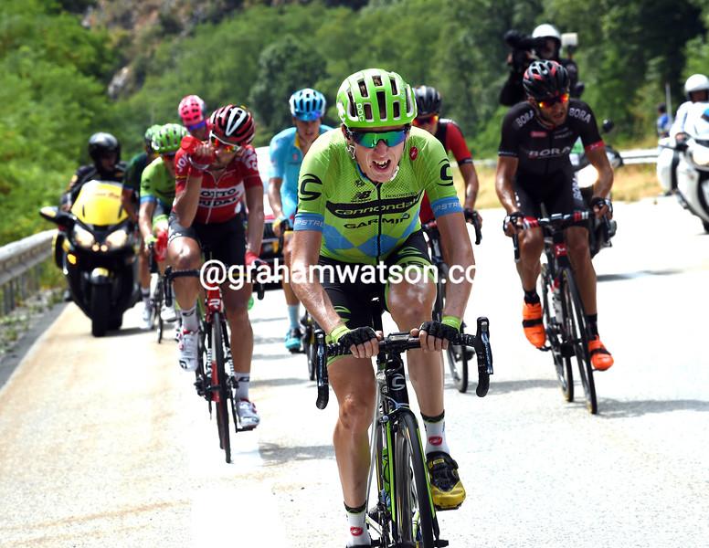Dan Martin escapes in the 2015 Tour de France