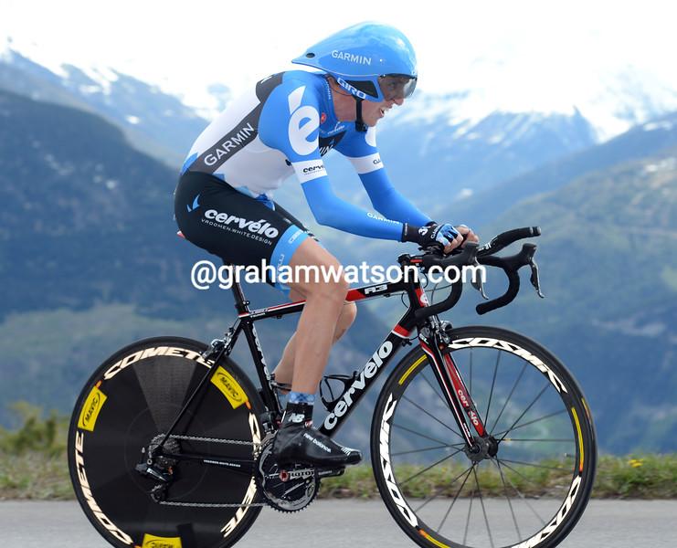 Dan Martin on stage five of the 2012 Tour de Romandie
