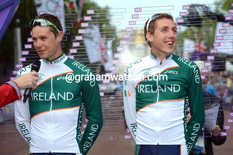 Nicolas Roche and Dan Martin in the 2012 Olympics