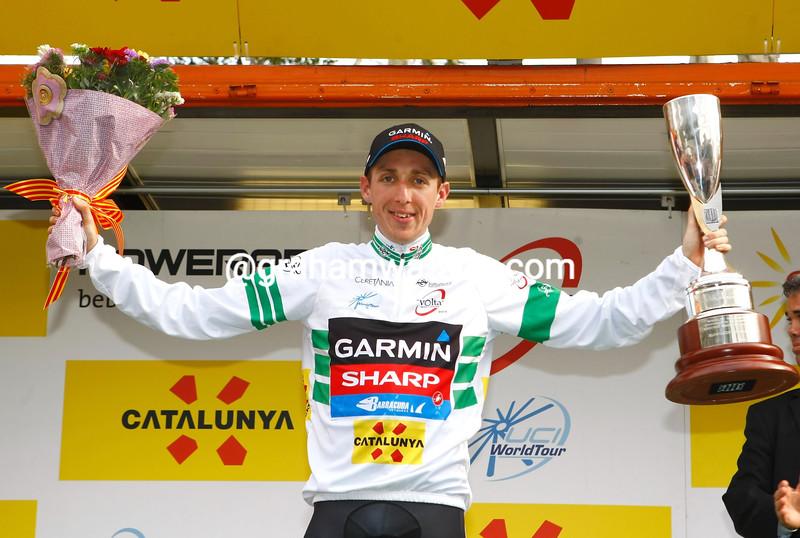 Dan Martin after winning the 2013 Tour of Catalonia.
