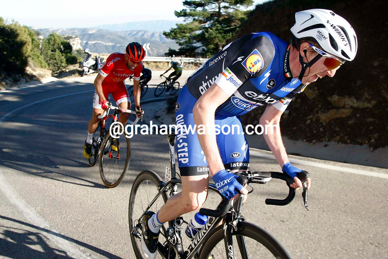 Dan Martin on stage 2 of the 2016 Tour of Valencia