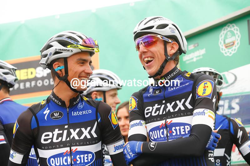 Dan Martin and Julien Alaphilippe in the 2016 Il Lombardia