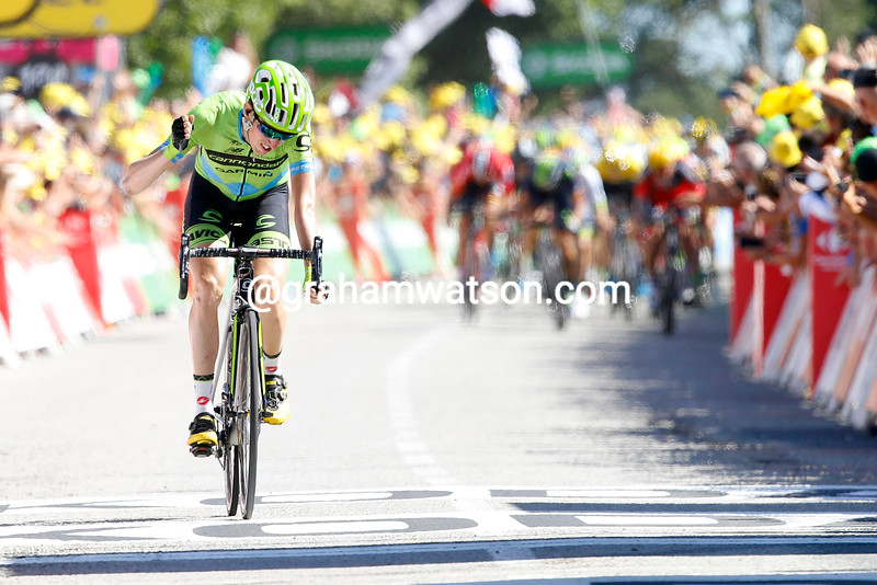 Dan Martin finishes stage eight of the 2015 Tour de France