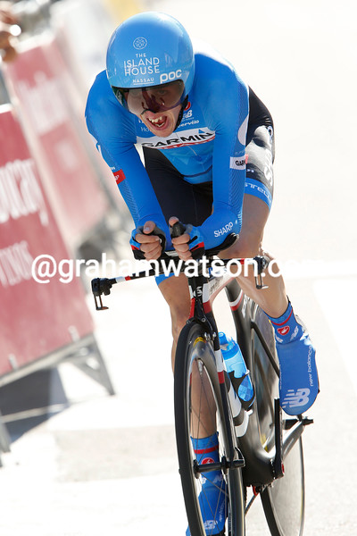 Dan Martin on stage ten of the 2014 Tour of Spain