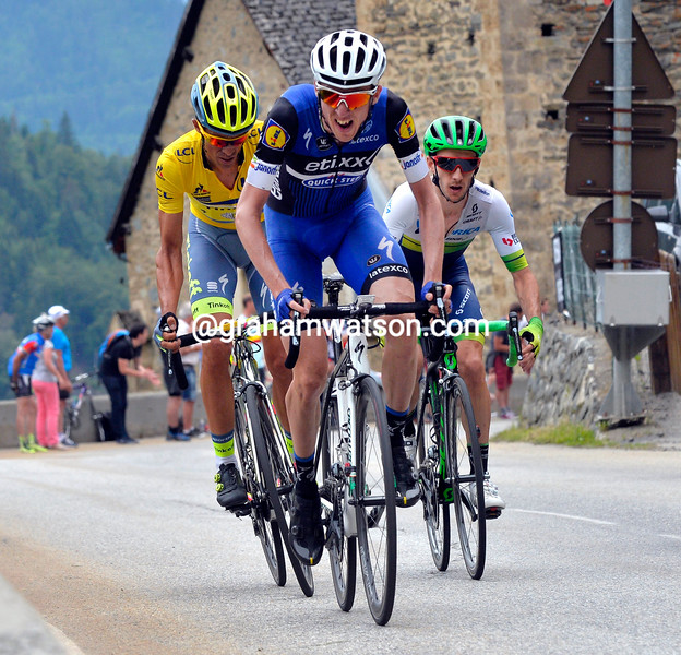 Dan Martin on stage five of the 2016 Dauphine-Libere