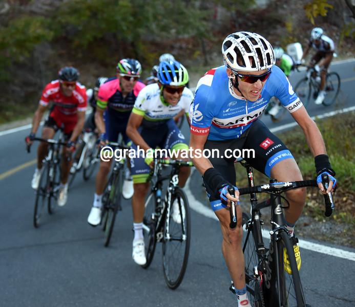 Dan Martin attacks in the 2014 Tour of Beijing