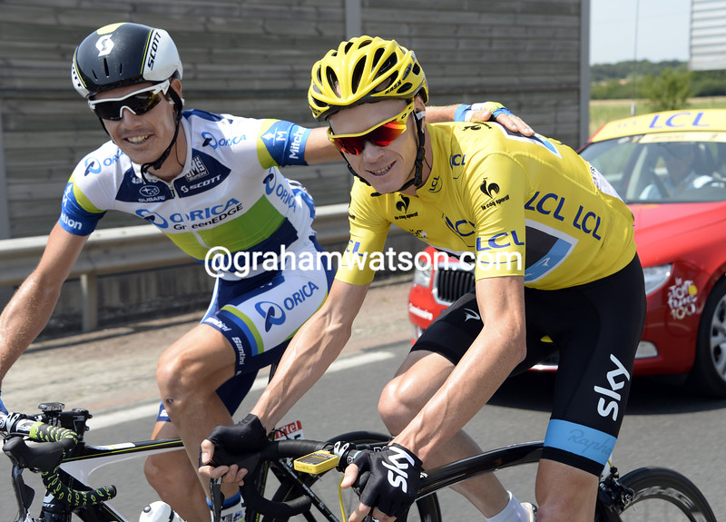 Chris Froome and Daryl Impey on stage thirteen of the 2013 Tour de France