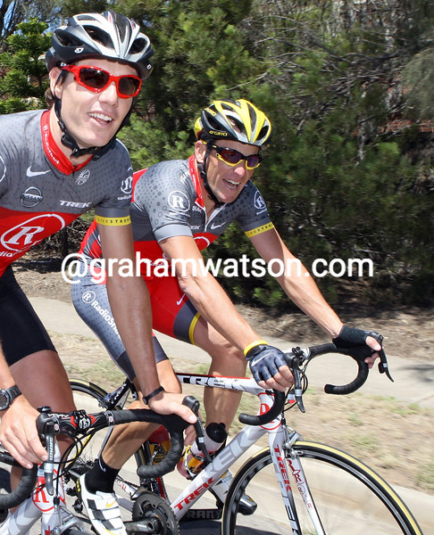 LANCE ARMSTRONG IN ADELAIDE WITH DARYL IMPEY
